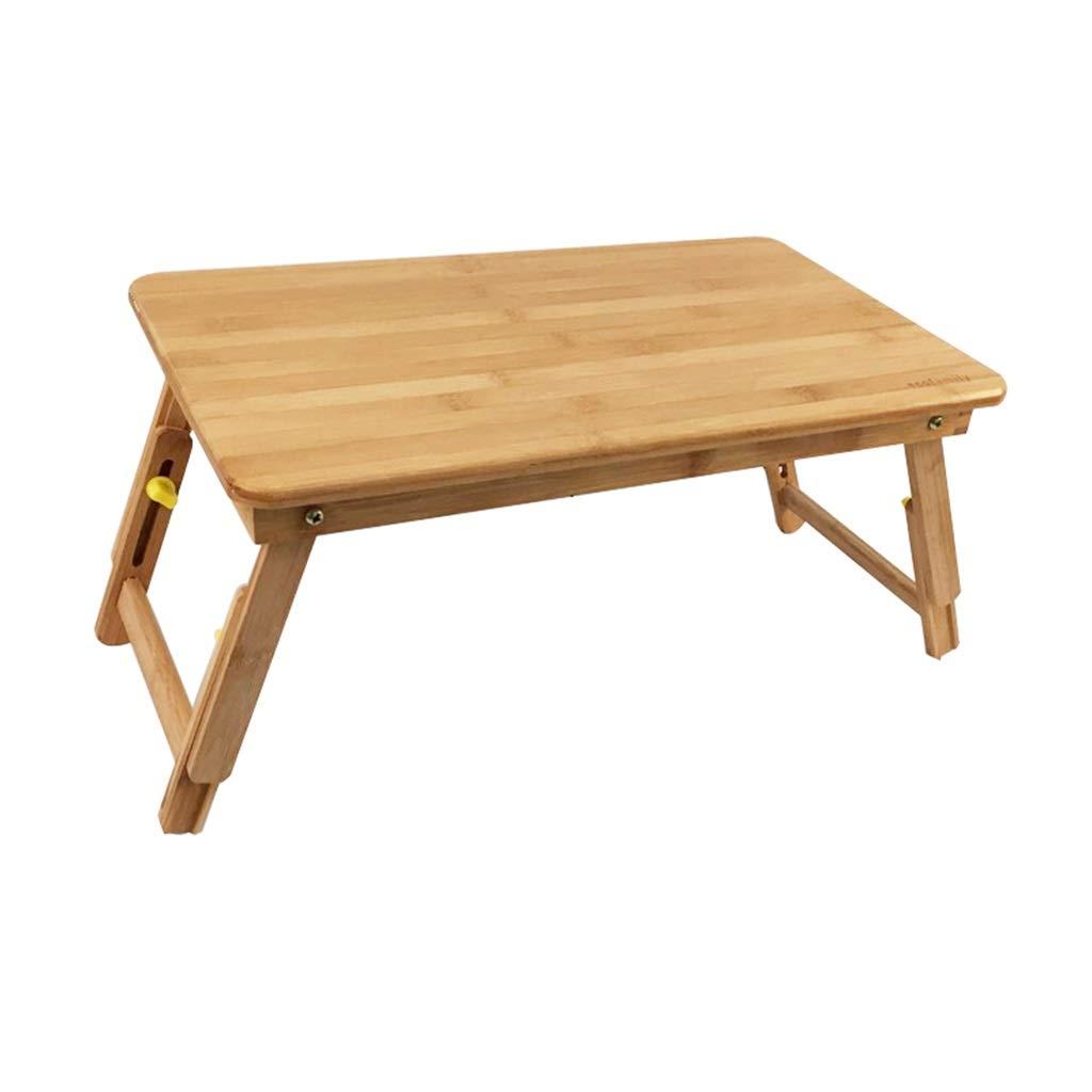 寝室スタディテーブル、家庭用ベッドのラップトップテーブル折りたたみ缶竹テーブルポータブル子供用テーブルフロアコーヒーテーブル (サイズ さいず : 75*35*26~34CM) 75*35*26~34CM  B07S4L5GGQ
