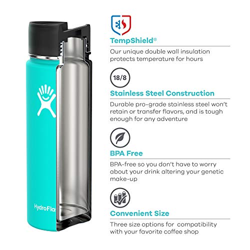 Hydro Flask 12 oz Double Wall Vacuum Insulated Stainless Steel Water Bottle/Travel Coffee Mug, Wide Mouth with BPA Free Hydro Flip Cap, Graphite