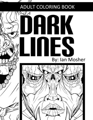 Dark Lines: Adult Coloring - Line Dark