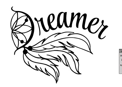Dreamer Decal Vinyl Sticker|Cars Trucks Vans Walls Laptop| BLACK |4.25 x 5.5 in|CCI937