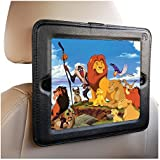 iPad Headrest Mount For Car-Fits Apple iPad's 1,2,3 4 Holder Keeps iPad in Car Secure Within A Strong PU Leather Case. Safe Car Mount for Kids