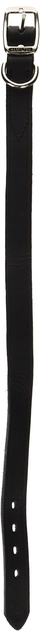 Hamilton 1'' x 24'' Creased Black Leather Dog Collar