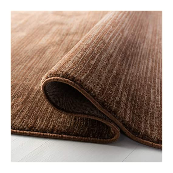 "Safavieh Vision Collection VSN606E Modern Contemporary Ombre Tonal Chic Runner, 2' 2"" x 6', Brown - Tone-on-tone colors give these rugs a clean contemporary vibe Versatile enough to decorate the bedroom, dining room, living room, foyer, or home office Refined power-loomed construction and enhanced polypropylene fibers ensure an easy-care and virtually non-shedding rug - runner-rugs, entryway-furniture-decor, entryway-laundry-room - 51SruCFISOL. SS570  -"