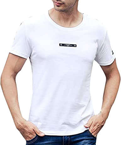Camisa Manga Corta Hombres Impresión de Letras Camiseta Casual Blusa Tops Moda 2019 Type C: Amazon.es: Ropa y accesorios