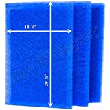 StratosAire Air Cleaner Replacement Filter Pads 20x32 Refills (3 Pack) BLUE