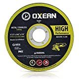 Oxean Professional 4-1/2-Inch by 0.045-Inch Metal and Stainless Abrasive Cutoff Cutting Wheel, 7/8-Inch Arbor, 5-Pack