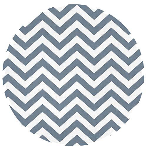 Architd Personality Slate Gray Chevrons Carpet, Suitable for Bathroom Carpet Doorway Carpet, 23.6