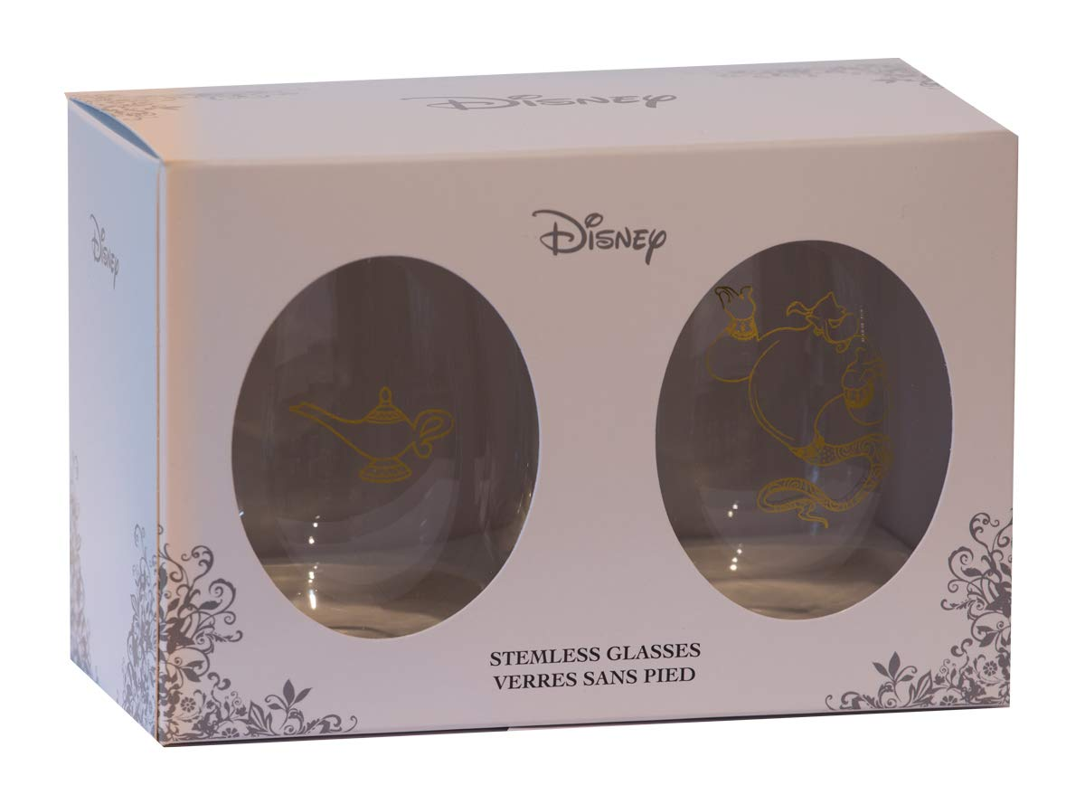 Disney Collectible Wine Glass Set Aladdin