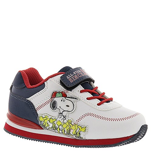 Peanuts Snoopy Athletic Boys' Infant-Toddler Slip On 7 M US Toddler White-Black