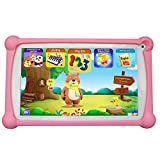 Kids Tablet, B.B.PAW 7 inch, Exclusively Authorized Kids Learning Apps Pre-Loaded, Teaching Skills and Language。WiFi, Android, Kids-Proof Case, HD Screen, Bluetooth, Camera, 8 GB, Candy Pink
