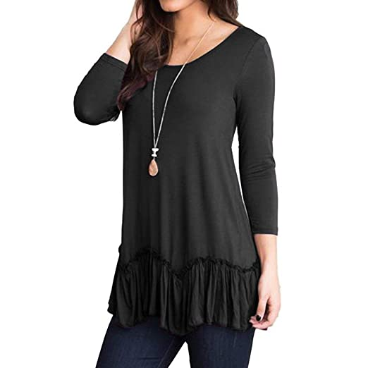 Dressffe Casual Womens Tops Plus Size Blouses For Women Fashion 2018