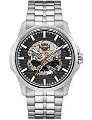 Harley-Davidson Mens Willie G Skull Self-Winding Stainless Steel Watch 76A158