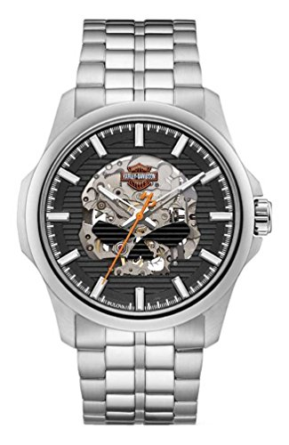 Harley-Davidson Men's Willie G Skull Self-Winding Stainless Steel Watch 76A158 -