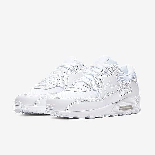 progenie Autorizar domesticar  Amazon.com | Nike Men's Air Max 90 Essential Sneakers, Blanco  (White/White-White-White 111), 10.5 UK | Fashion Sneakers
