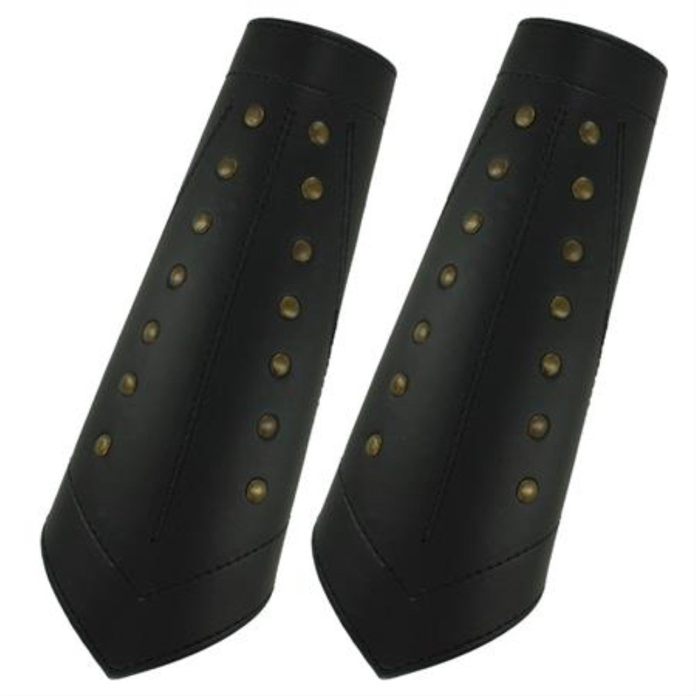 Reproduction Ranger's Studded Sable Leather Bracers