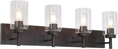 Oil Rubbed Bronze 4 Light Indoor Vanity Light