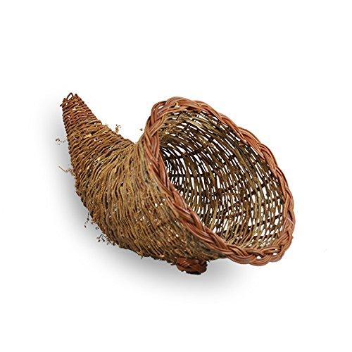 The Lucky Clover Trading Harvest Vine Fern Cornucopia Basket, Medium