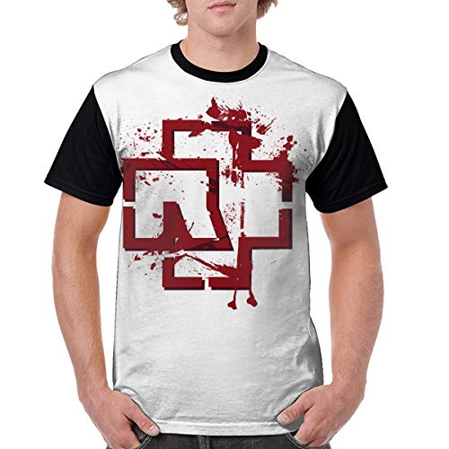6f01a952c180 FG2121f1h Rammstein Band Men's Short Sleeve T-Shirt/Tee Crew Neck Tops XXL