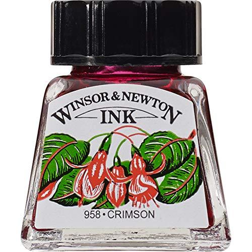 Winsor & Newton Drawing Ink 14ml Bottle : Crimson : (water Resistant)