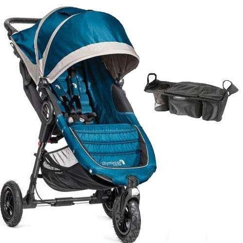 Baby-Jogger-City-Mini-GT-Single-Stroller-with-Parent-Console-Teal-Gray