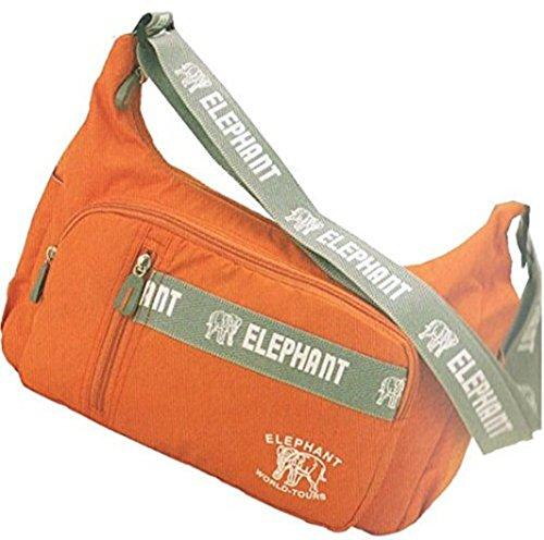 Umhängetasche 3763 ELEPHANT Freetime m.Handyfach in 4 Farben ca 33,0 x 26,0 x 11,0 cm Schwarz