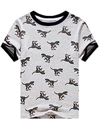 Little Boys' Short Sleeve Summer Cotton T-Shirts Tee Kids Clothes