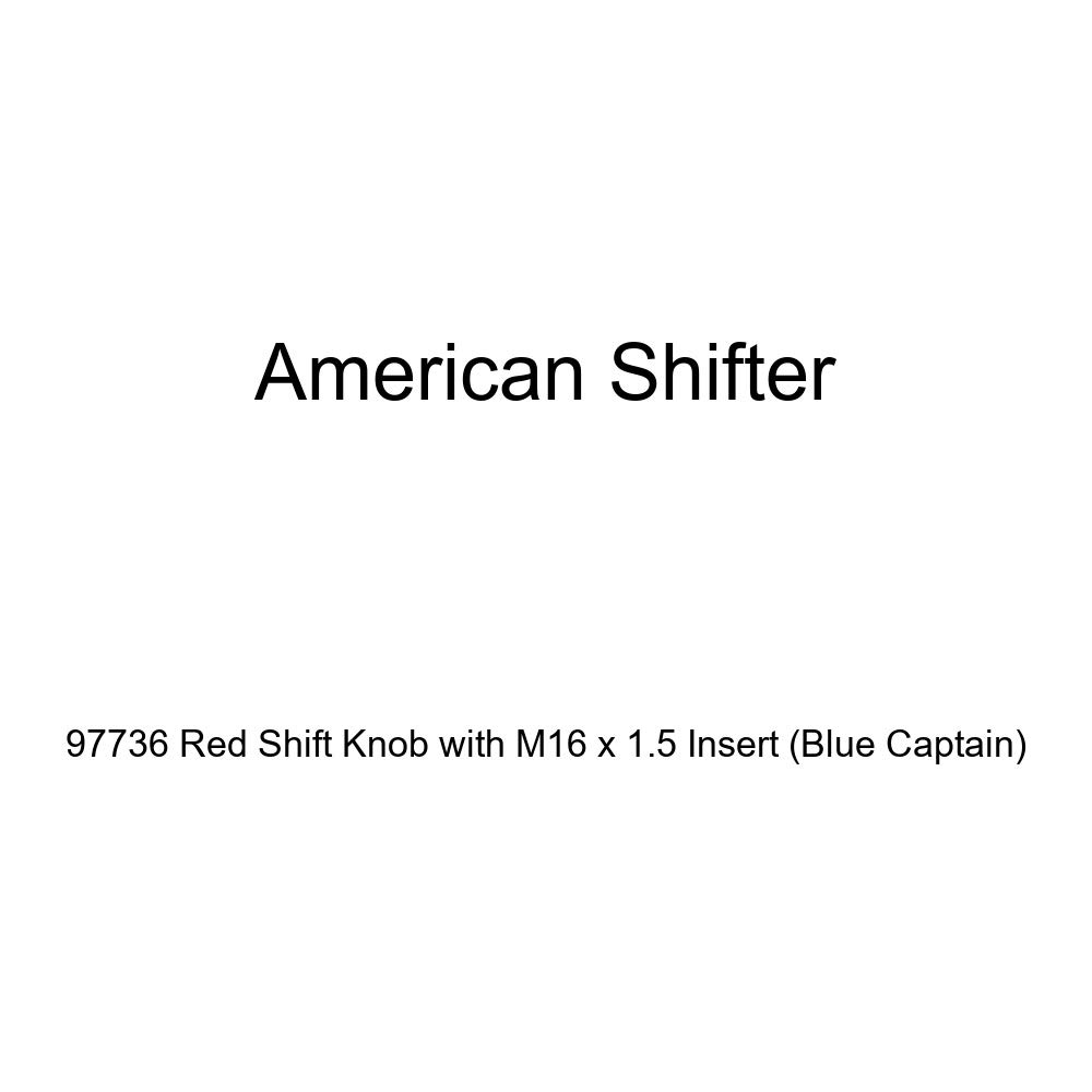 Blue Captain American Shifter 97736 Red Shift Knob with M16 x 1.5 Insert