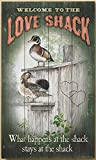 Love Shack - Wood Ducks 18'' x 30'' Wood Sign by Persis Clayton Weirs