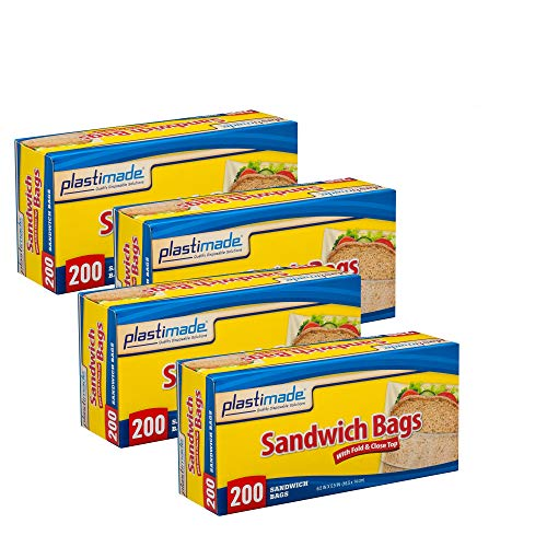 Plastimade Sandwich Bags With Fold & Close Top (6.5 in X 5.5) in 200 Count Pack of ()
