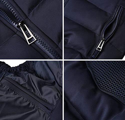 Abrigo Jacket De Chaqueta Dunkel Invierno Hombres Chaleco para Bodywarmer Acolchado Blau Mitten Chaleco HaiDean Modernas Ocio De con Capucha Invierno Casual B4nPqZn