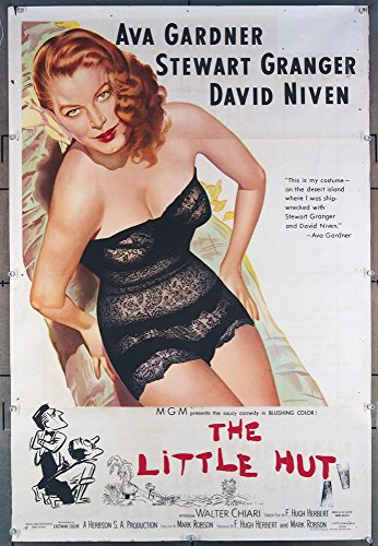 The Little Hut (1957) Original Australian One-Sheet Movie Poster 27x40 AVA GARDNER FARLEY GRANGER DAVID NIVEN Film Directed by MARK - Austin Hut The