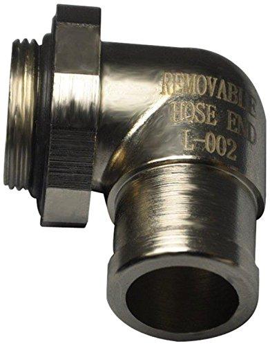 EZ (L-002) Silver Large 90 Degree Hose End EZ Oil Drain Valve
