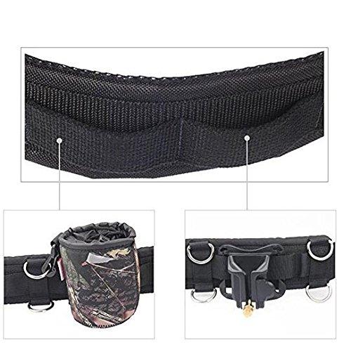 Gudhi Verstellbar Nylon Sport Bergsteigen Kamera Taille G/ürtel Buckle-Black
