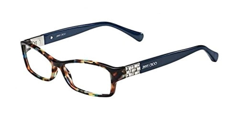 cc2cb19372 Amazon.com  Jimmy Choo Plastic Rectangular Eyeglasses 53 09DT Spotted  Havana Blue  Shoes