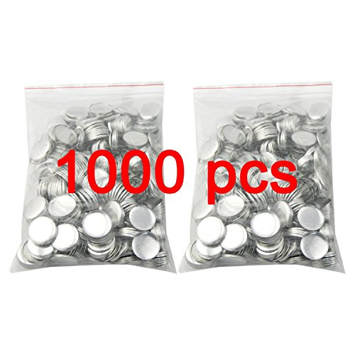 VEVOR Button Maker Machine 1.25Inch 32mm Button Badge Maker Punch Press Machine with 1000 Pcs Circle Button Parts and Circle Cutter (32MM 1000P)