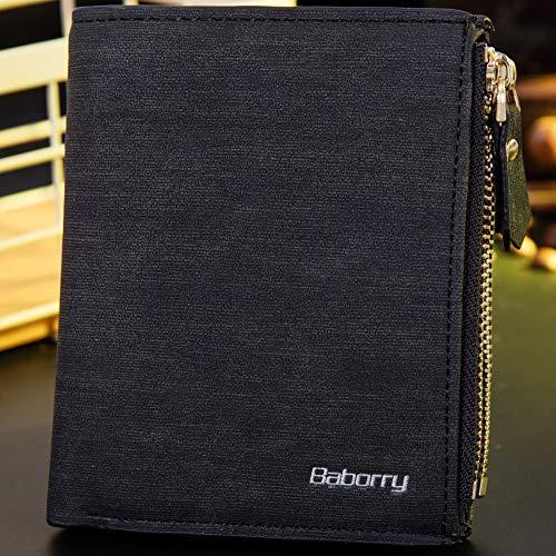Brown Short De Billetera Paquete Wallet Rfid Identificación Para radiofrecuencia Men Tarjeta Anti Hombres nSU7SC4