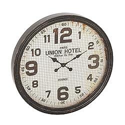 Benzara 52140 Antique Colonial Wonderful Wood Metal Wall Clock