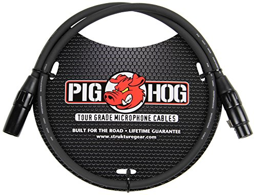 High Performance Microphone Cable (Pig Hog PHM3 High Performance 8mm XLR Microphone Cable, 3 feet)