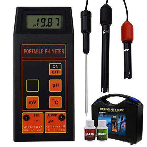 3 in 1 pH/ORP mV/Temperatur Meter -1999~1999mV Wasser Qualität Prüfer mit ATC Austauschbar Elektrode Hoch Richtigkeit Testen Gerät