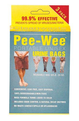 Cleanwaste Pee-Wee Unisex Urine Bags-50 3-Packs (D577PW350)