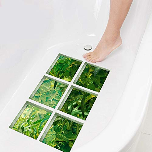 YSDDM Bathroom mat 3D Bathtub Stickers Bath Mats Rainforest Non Slip Waterproof Self Adhesive Tub Decals Appliques for Tile Floor Wall-in Bath Mats from Home & Garden from YSDDM