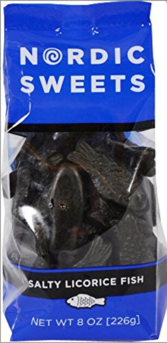Nordic Sweets Salty Licorice Fish (8 ounce)