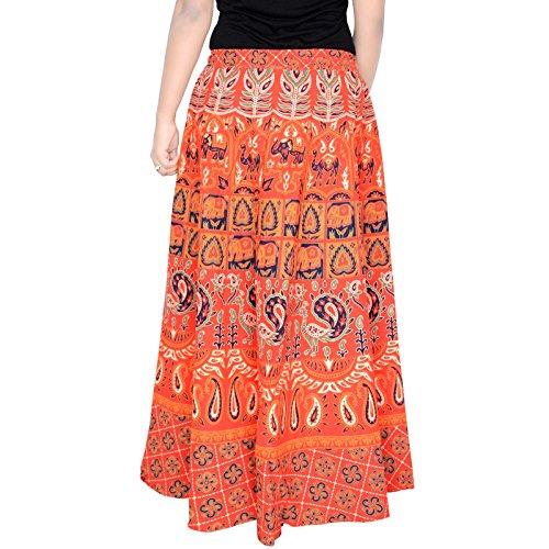 Longueur 36 Pouces Jupe Élastique Pour Les Femmes Jupe D5 Orange,