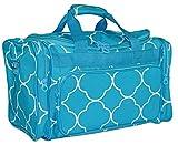 Ever Moda Moroccan Tile Medium Duffle Bag (Teal Blue) Review