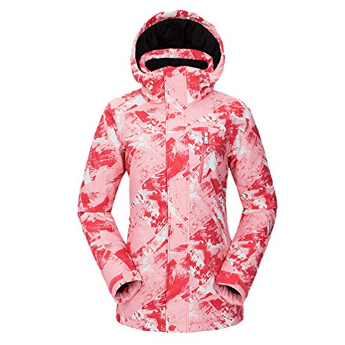 Donne Uomini Inverno Caldo Installazione donne Di Pink1 Stampa Giacca Di Antivento Giacca Impermeabile Yuncai Esterno Sportiva Delle Amanti Sci Degli xvYvw8
