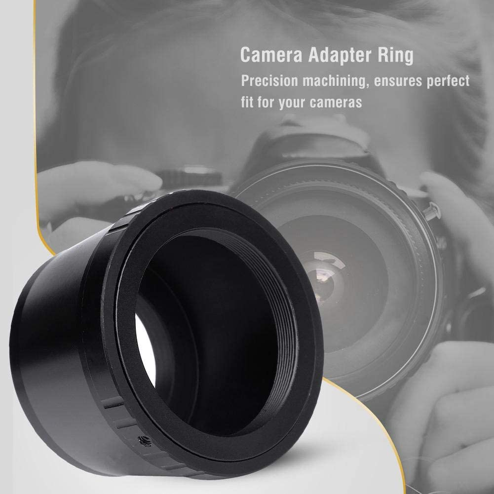 Manual Lens Adapter for T2 Mount Lens for Nikon 1 Mirrorless Camera Body to T2 Threaded Telephoto Lens//Microscope//Telescope,Manual Control Focus//Aperture