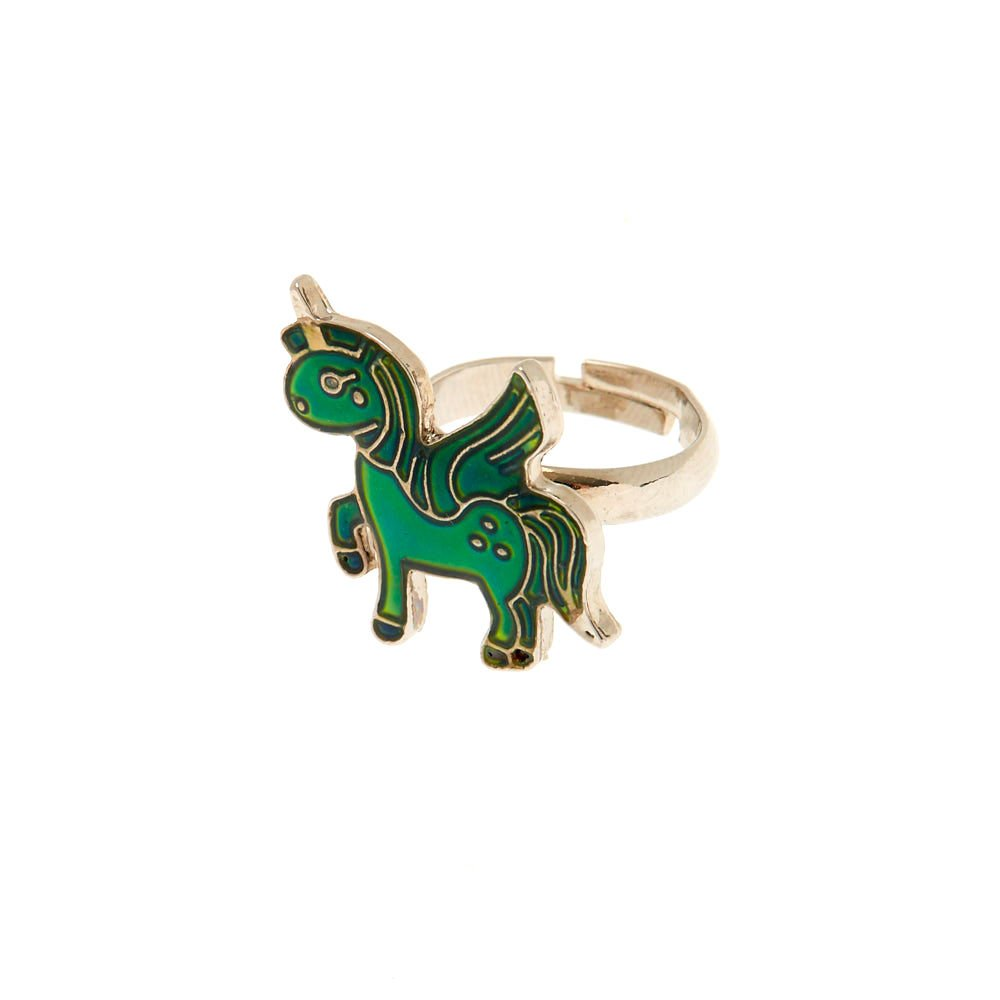 Claire's Girl's Pegasus Mood Ring Silver Claire's