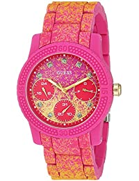GUESS Women's Quartz Rubber and Silicone Casual Watch, Color:Pink (Model: U0944L3)