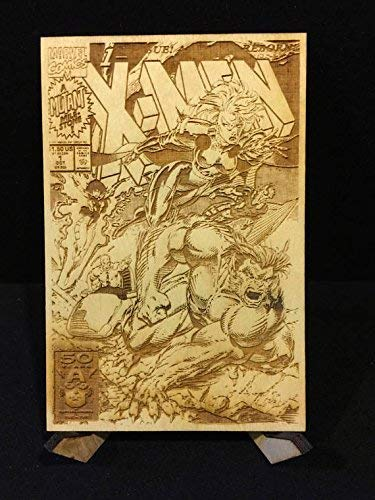 X-Men #1 All Four Jim Lee Covers Laser Etched Wood Covers on Baltic Birch by CCHobby (Image #4)