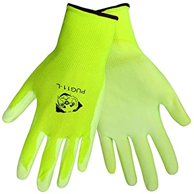 Global Glove PUG11 Polyurethane/Nylon Glove, Work, White (Pack Of 12)